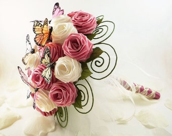 Garden Party, Wedding Bouquet, Bridal Bouquet, Butterfly Bouquet, Spring Rustic Weddings, Origami Wedding