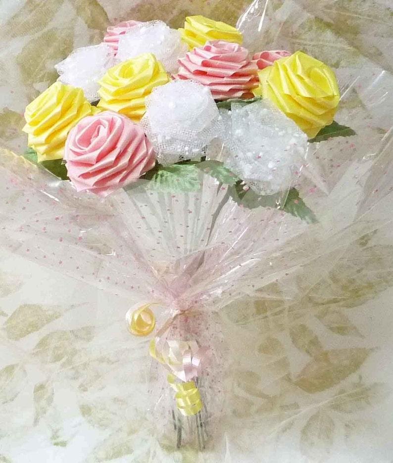 Origami Fresh Spring Rose Bouquet 1 Dozen Gift Wrapped | Etsy