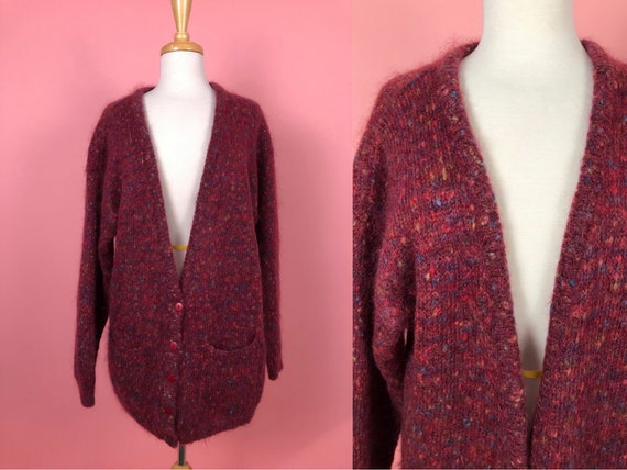 Vintage 1990's Segue Oversized Mohair Cardigan Swe