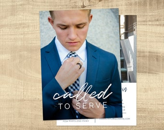 LDS Missionary Farewell invitation, Missionary invite, Photo card, Missionary anouncement, Sister missionary, card: PRINTABLE | James