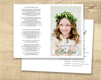 LDS Baptism Invitation - Modern Baptism Announcement, digital design, printable baptism announcement