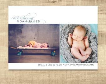 photo birth announcement newborn announcement baby announcement birth card photo baby card girl birth announcement simple birth card