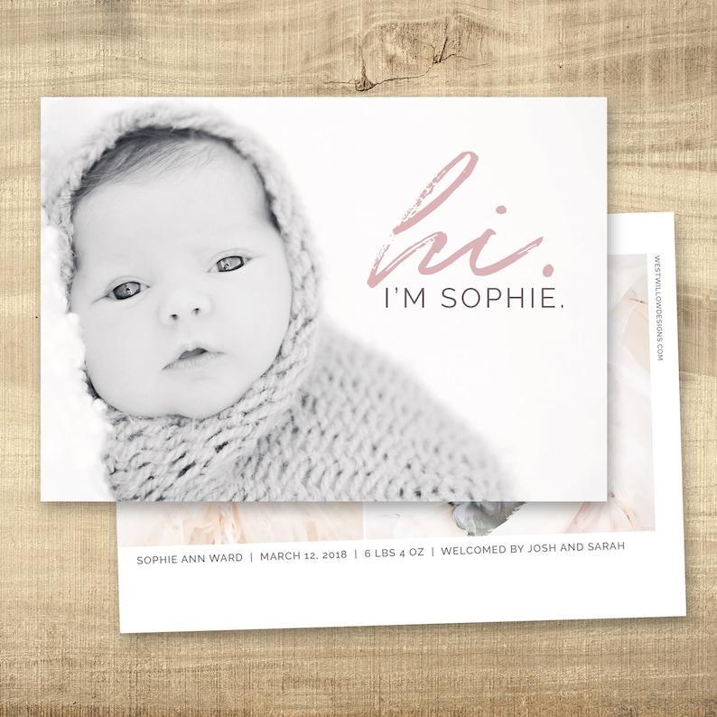 Birth announcement photo card digital photo birth announcement image 0