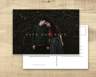 Save The Date, Save The Dates Postcard, Save The Date Postcard, Photo Save The Date Cards, Save The Date With Photo, Cute, Picture
