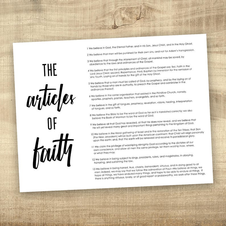image regarding Printable Articles of Faith titled Content of Religion, LDS Electronic History key LDS printable poster, Mormon, Spouse and children Proclamation 8.5x11, 11x14, 16x20