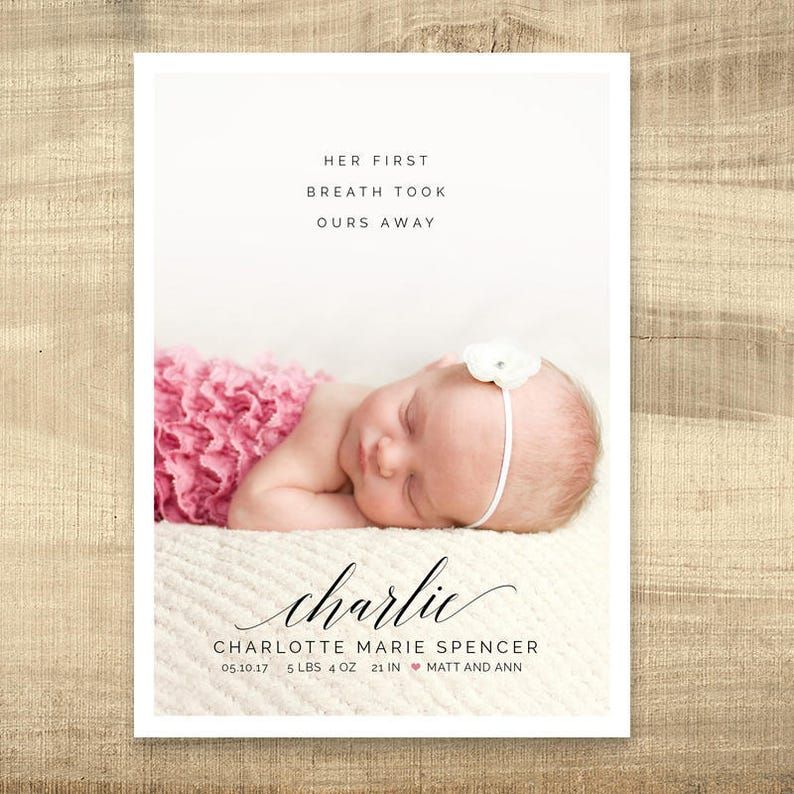 birth announcement  baby announcement first breath birth image 0