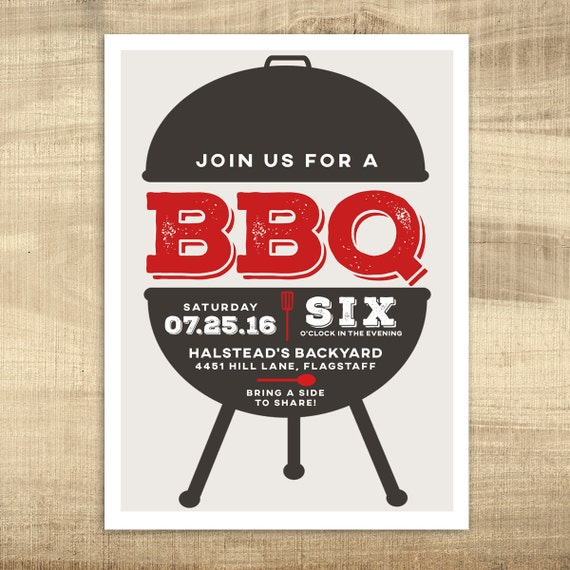 Printable Summer BBQ Invitation Backyard BBQ Invitation Etsy