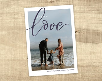 Christmas Photo Card - custom design holiday card digital file