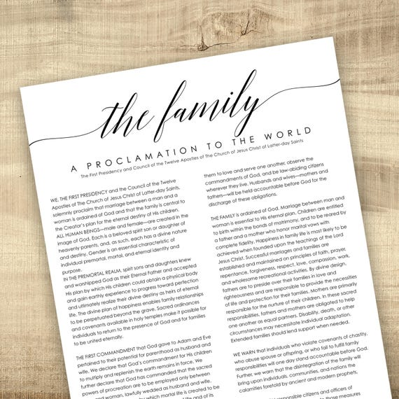 photo relating to The Family a Proclamation to the World Printable titled LDS Relatives Proclamation toward the Planet - Electronic Printable Document, Spouse and children Proclamation, Proclamation upon the Relatives, 8.5x11, 11x14, 16x20