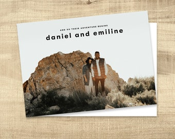 Wedding Invitation, Photo wedding invitation, modern lds wedding, photo wedding invitations, temple wedding invitations: PRINTABLE