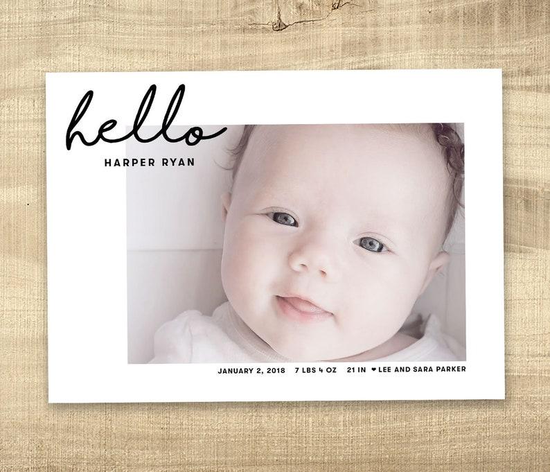 Birth announcement photo card photo birth announcement image 0