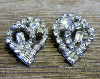 Vintage Kramer Rhinestone Earrings - Clip on