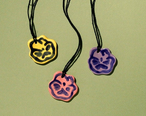 Let Every Pansy Bloom Pendant