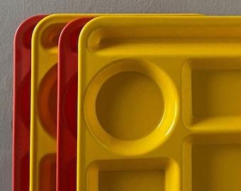 Set of Four Vintage Lunchroom Trays