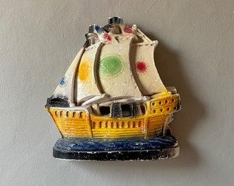 Vintage Chalk Ware Ship