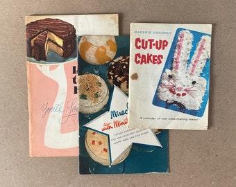 Set of three cookbooks