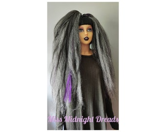 Gorgeous purple and grey hair falls PG1