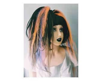 Brown, blue and orange hair accessories BOB