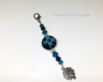 Beaded Scissor Fob for Cross Stitch, Embroidery, Needlepoint, Sewing, Quilting, Knitting, Scissor Keeper, Scissor Minder, Scissor Bling
