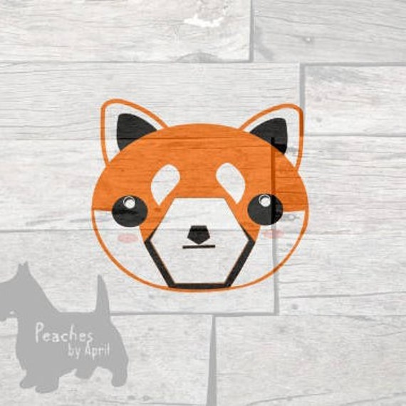 Cute Animal Visage Svg Panda Roux Visage Animal Kawaii Etsy