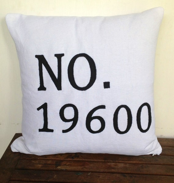 Womens Gift Idea House Number Pillow House Warming Gift  fafcb57ae1