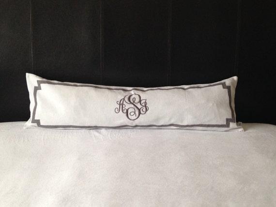 Long Mongram Pillow Covers Long