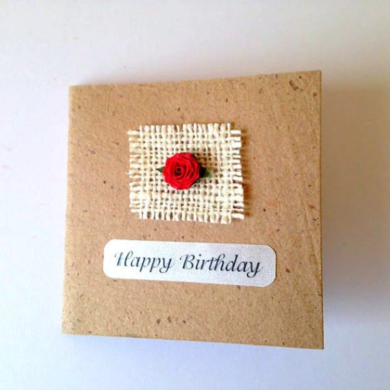 Rose Cards Handmade Cards Gift Cards Recycle Personalized Etsy