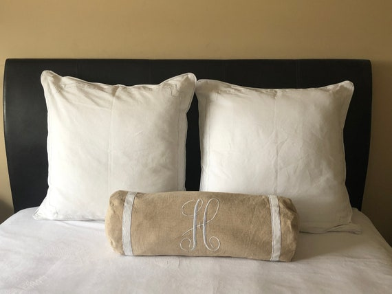 Beige Bolster Pillow Alphabet bolster