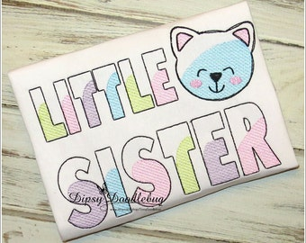 Little Sister Shirt- Birth Announcement Shirt- Sibling Shirt- Big Brother - Big Sister - Little Brother - Little Sister