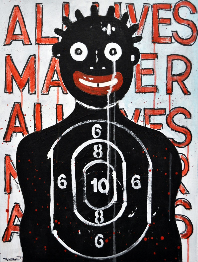 Black Lives Matter End Racism Political Art Conversation image 0