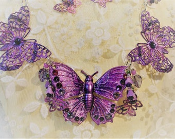 Trio Purple Butterfly Invasion