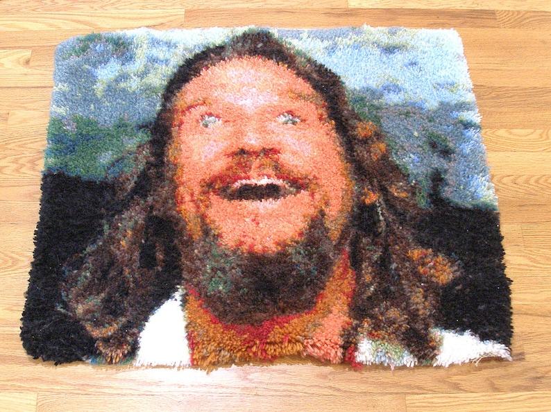 Big Lebowski Dream Latch-hook rug The Dude abides. Limited image 0