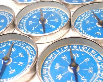 50s Toy compass. Dime store toy. Made in Japan. Blue.