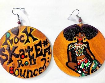 Rock skate roll bounce Afro Girl