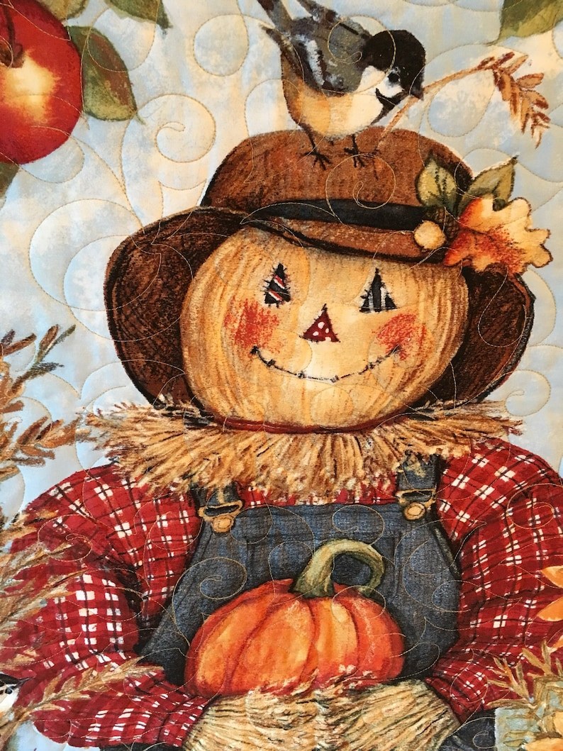 Fall wall quilt Harvest wall hanging fall decor Ready to image 0