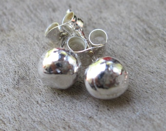 ON SALE - Sterling Silver Studs, Small Sterling Post Earrings, Artisan Sterling Post Earrings