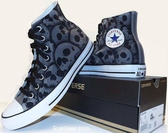 d00865bde7d5 RokGear unique hand painted Skull Converse - All sizes all colors made to  order