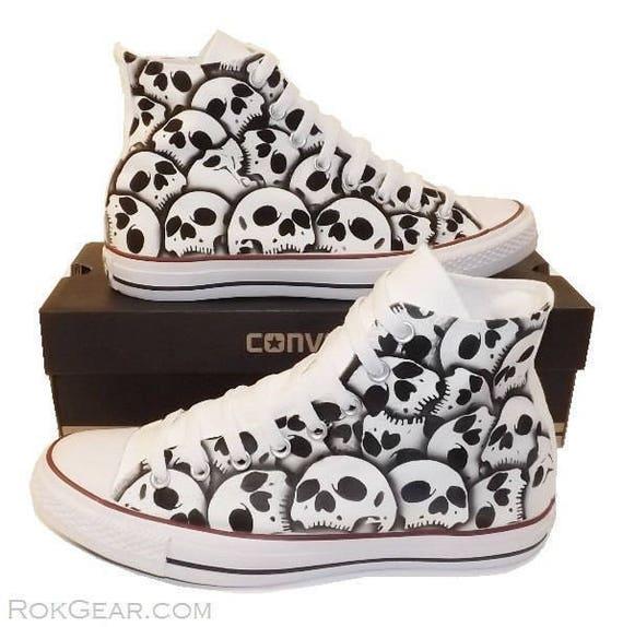 converse all stars skull