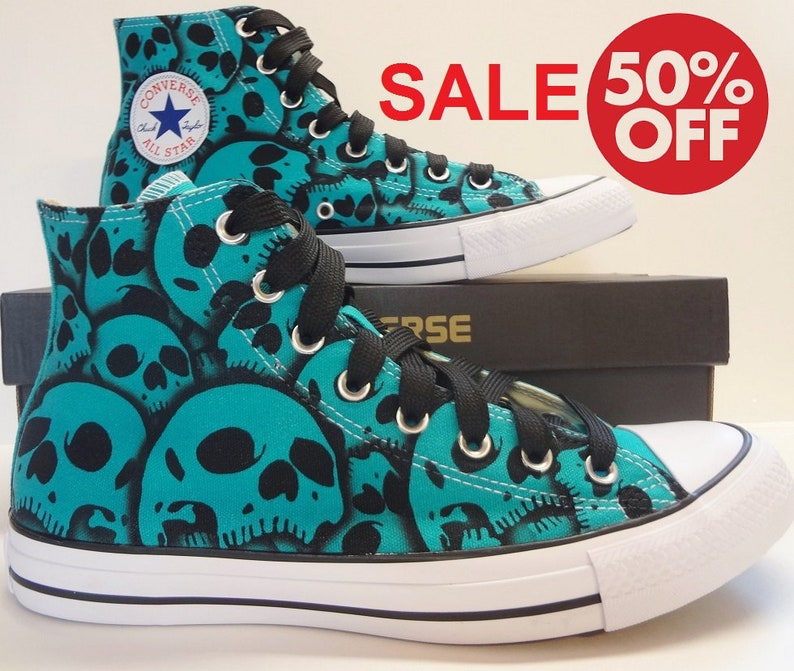 c1303e3bedda Converse Skull shoes SALE This pair this size this color 50%