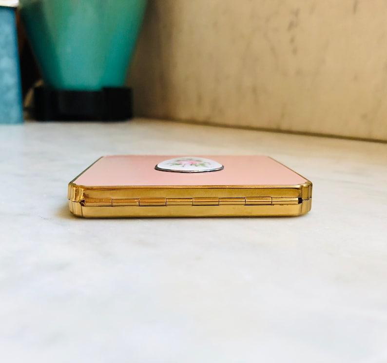Pink Enamel /& Cloisonn\u00e9 Schildkraut Compact