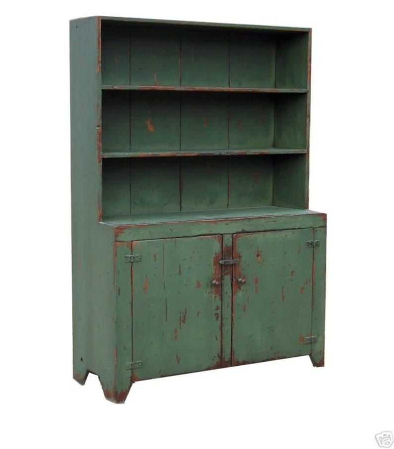 Primitive Furniture Farmhouse Cabinet Hutch Painted Country Etsy