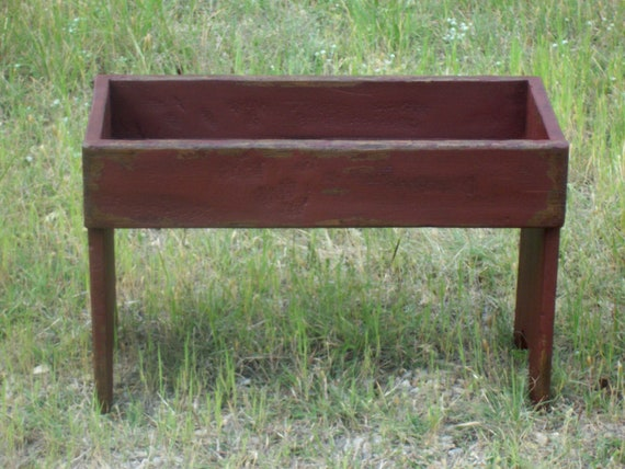 Fabulous Primitive Rustic Garden Bench Painted Distressed Small Early American Farmhouse Country Style Furniture Gmtry Best Dining Table And Chair Ideas Images Gmtryco