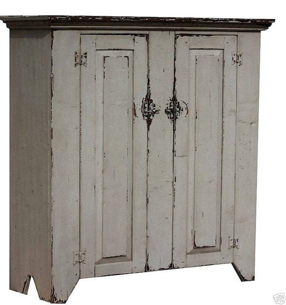 Incroyable Primitive Rustic Farmhouse Furniture Jelly Cupboard Cabinet   Etsy