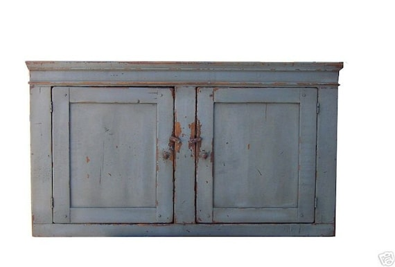 Wall Cabinet Primitive Cabinet Rustic Cabinet Kitchen Wall Etsy