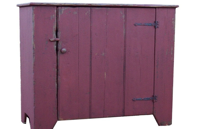 Shabby Chic Colors For Furniture : Primitive farmhouse furniture kitchen cupboard painted country etsy