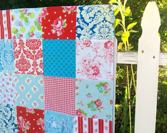 32x40 Red White & Blue Baby Blanket Ready to Ship