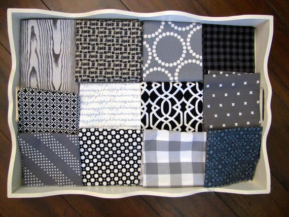 Boys Black, White & Grey 32x32 Minky Blanket Made to Order