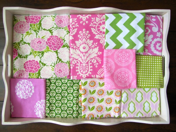 32x48 Heather Bailey Pink & Green Quilt Made to Order