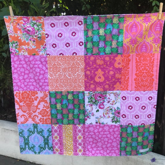 32x32 Jennifer Paganelli Pineapples Baby Blanket Ready to Ship