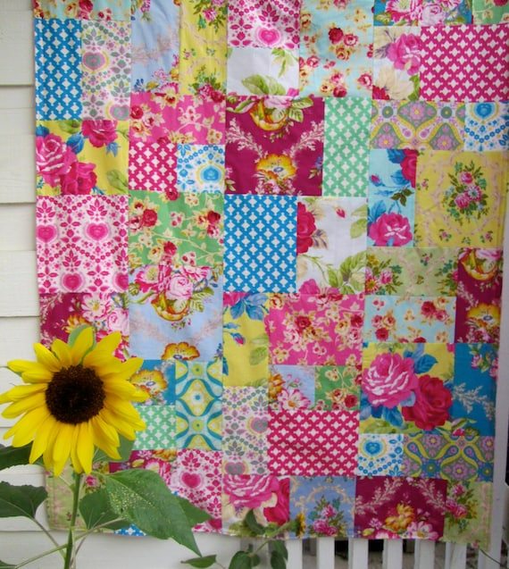 Jennifer Paganelli Good Company Patchwork and Minky Blanket Made to Order